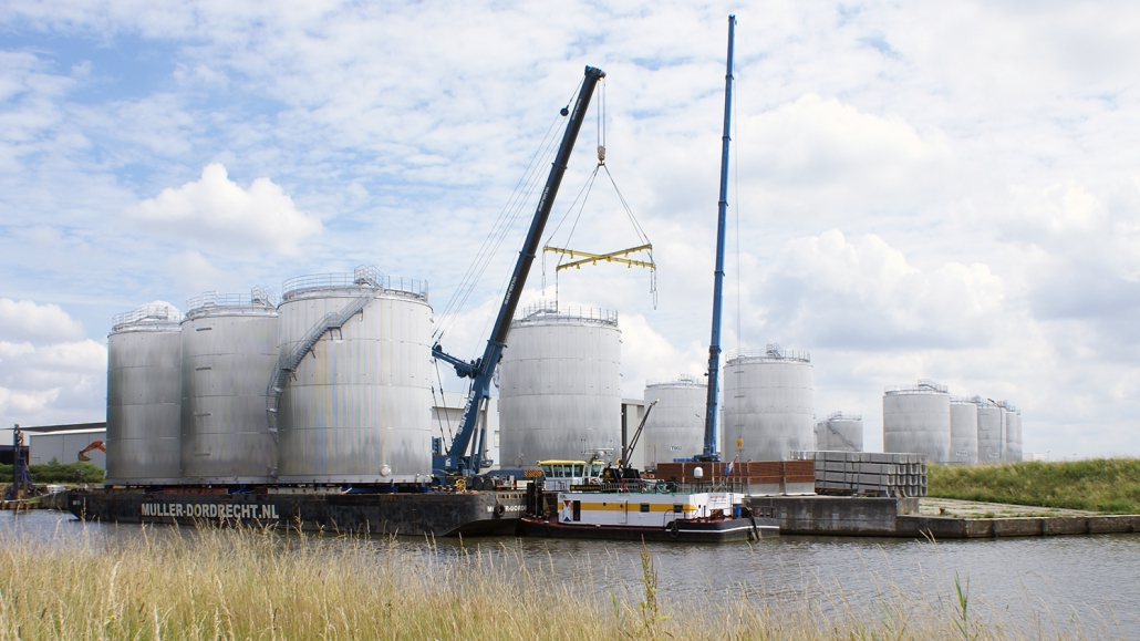 16 Storage tanks and a new jetty