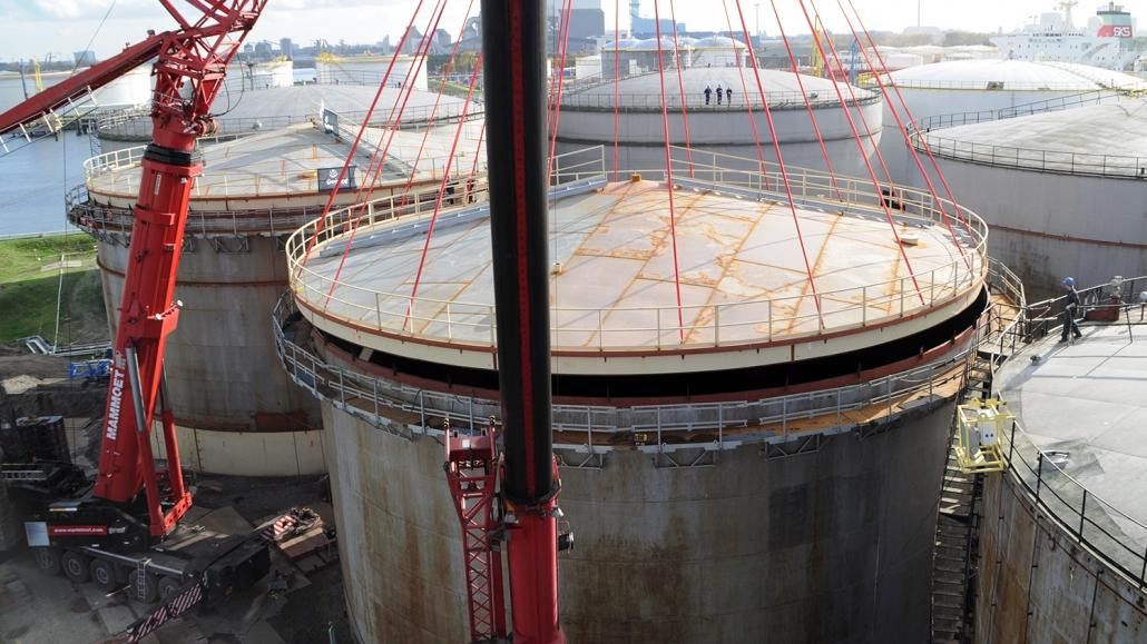 Refurbishment of 10 storage tanks